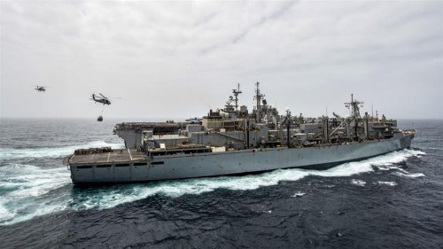 US warship 'destroys' Iranian drone in Strait of Hormuz
