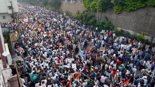 Over 100,000 march in southern India to protest citizenship law