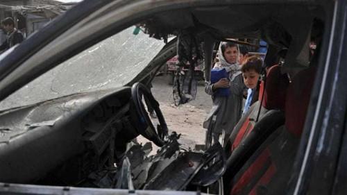 Afghan children die in roadside blasts