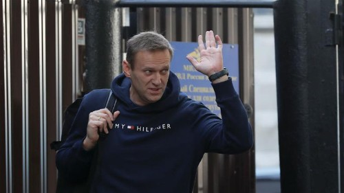 Freed Navalny vows to continue fight against Putin