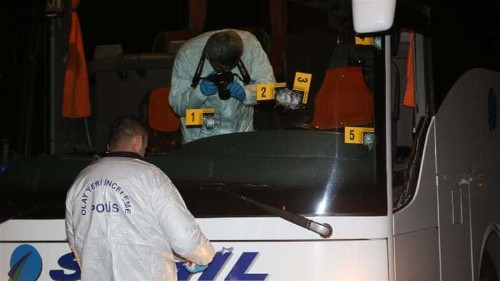 Gunshots fired at Turkish football club's team bus