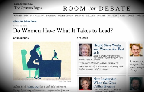 'Do men have what it takes to lead?'