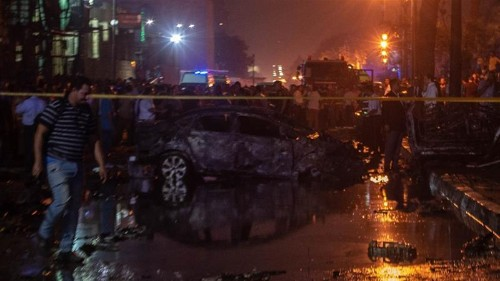 Egypt car crash sets off deadly explosion outside Cairo hospital