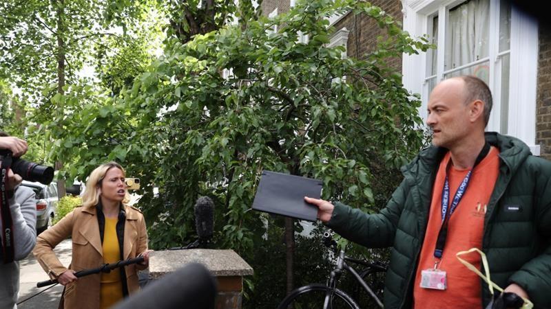 UK PM Boris Johnson backs top aide after lockdown revelations