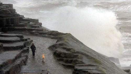 UK is battered by hurricane-force winds