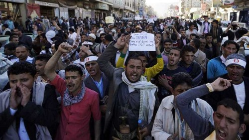 Yemen's Houthis attack protesters in Sanaa