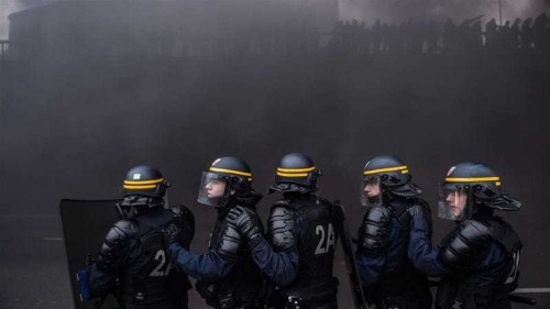 Flights cancelled as French protests turn violent