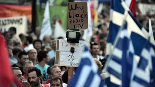 Greece: Blank TV screens and a blank reform agenda