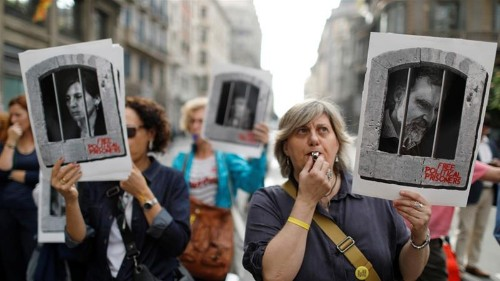 Catalan separatist leaders handed jail terms for independence bid