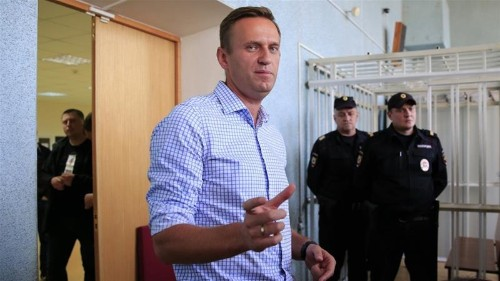 Russia's opposition leader Navalny gets 10-day sentence
