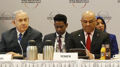 Yemen FM faces backlash for smiling, sitting next to Netanyahu