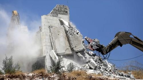 Palestinian homes demolished by Israeli troops