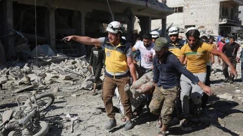 'Boundless criminality': Dozens killed in Idlib market bombing