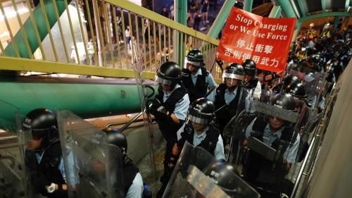 Trump warns of risk of violent Chinese crackdown in Hong Kong