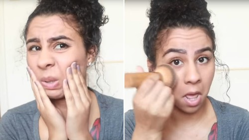 """This Viral """"Thoughts & Prayers"""" Makeup Tutorial Is a Satire Sharper Than Any Winged Eyeliner"""