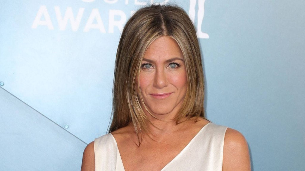 Jennifer Aniston's 2020 Emmys Look Consists of PJs and a Sheet Mask