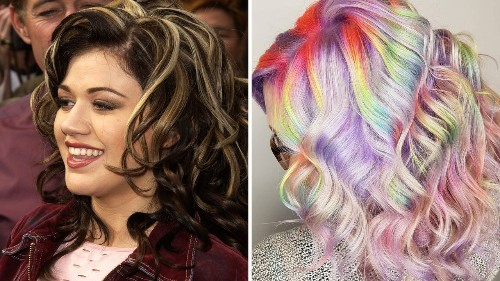 Some People Wait a Lifetime for Kelly Clarkson-Inspired Rainbow Highlights Like This