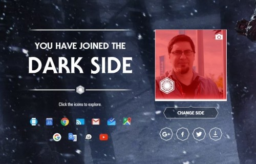 Choose a side in Star Wars and Google's apps will follow your path