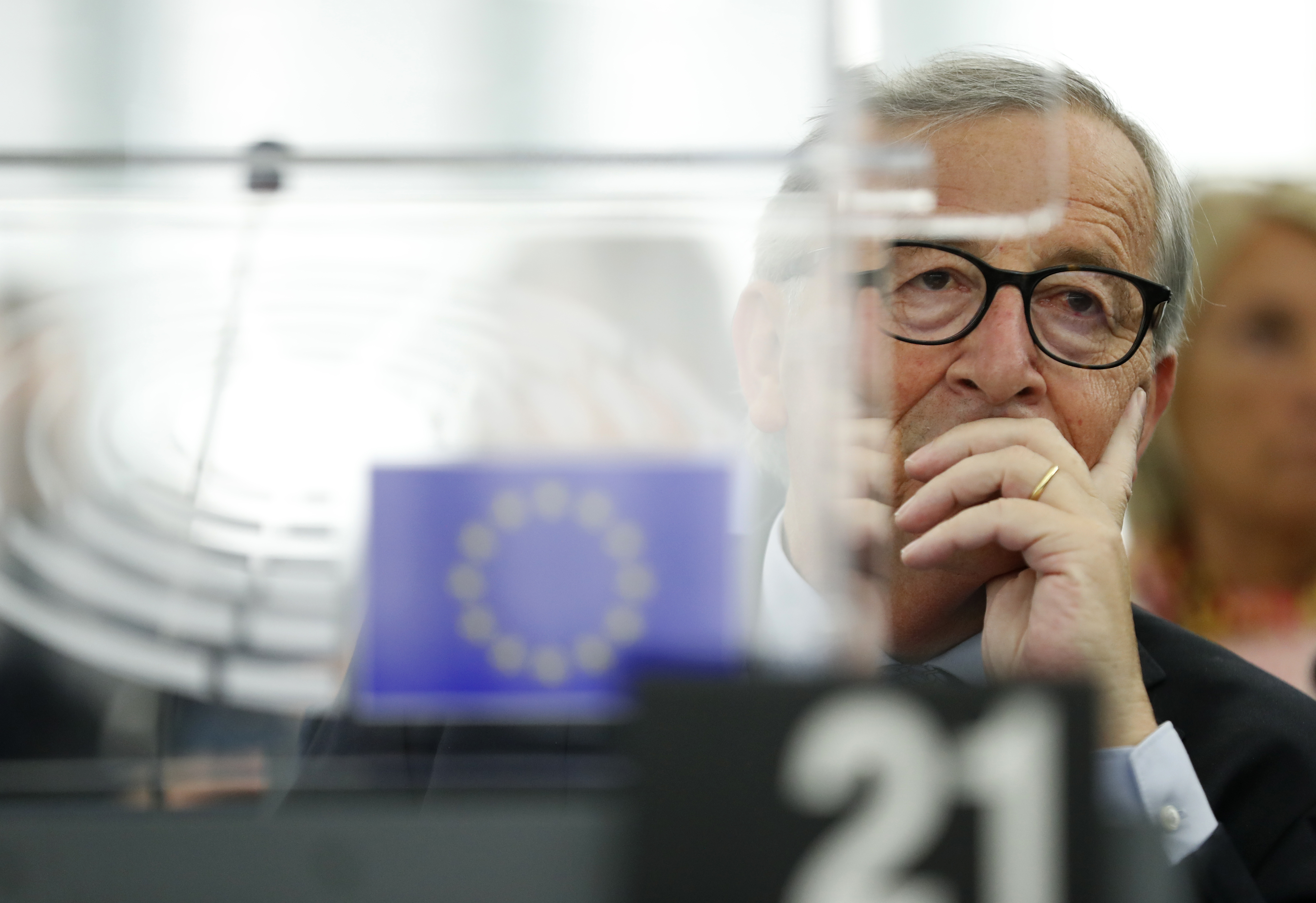 EU's Juncker: Irish border controls needed in no-deal Brexit