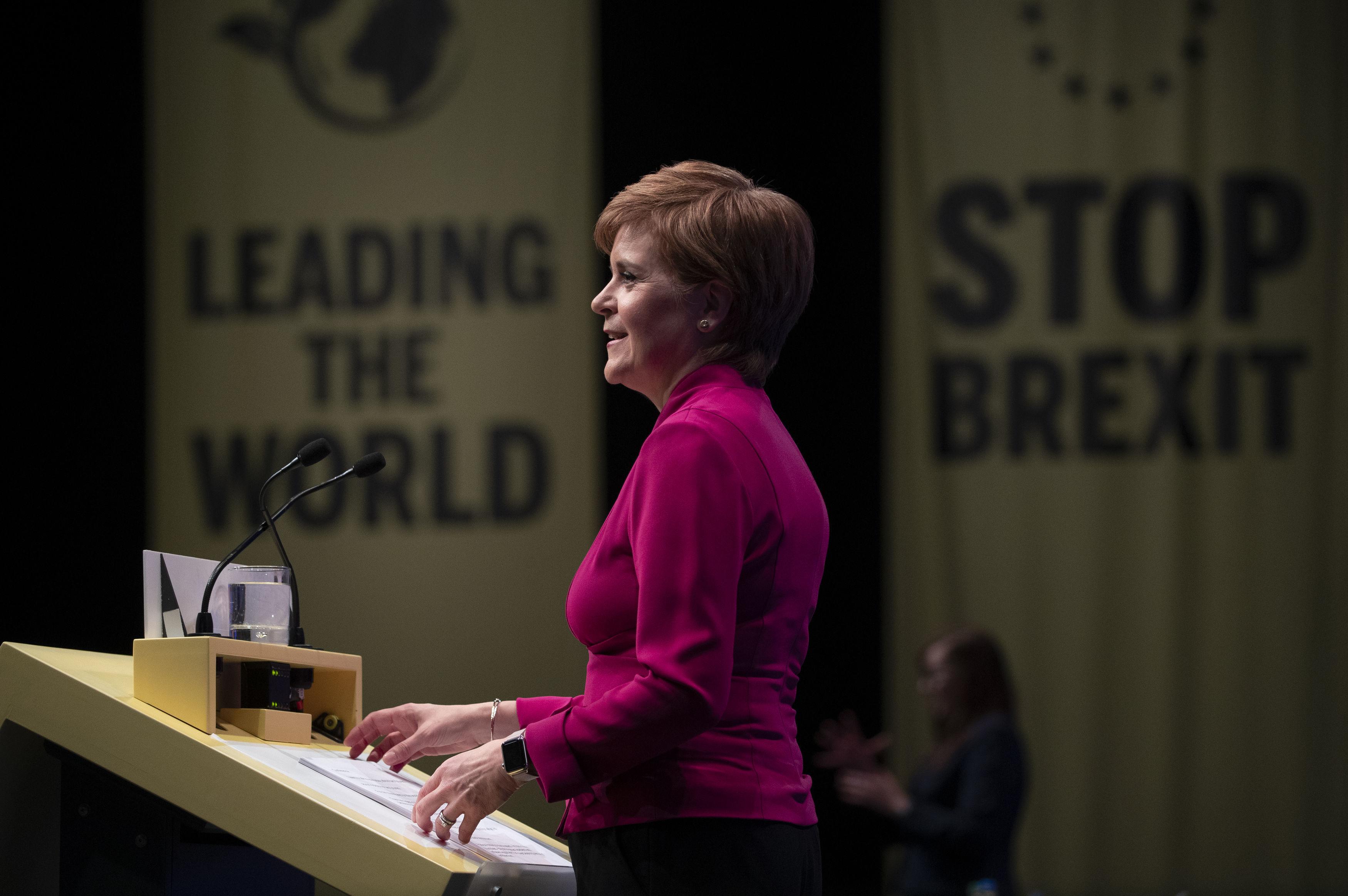The Latest: Scottish party won't accept Brexit plans