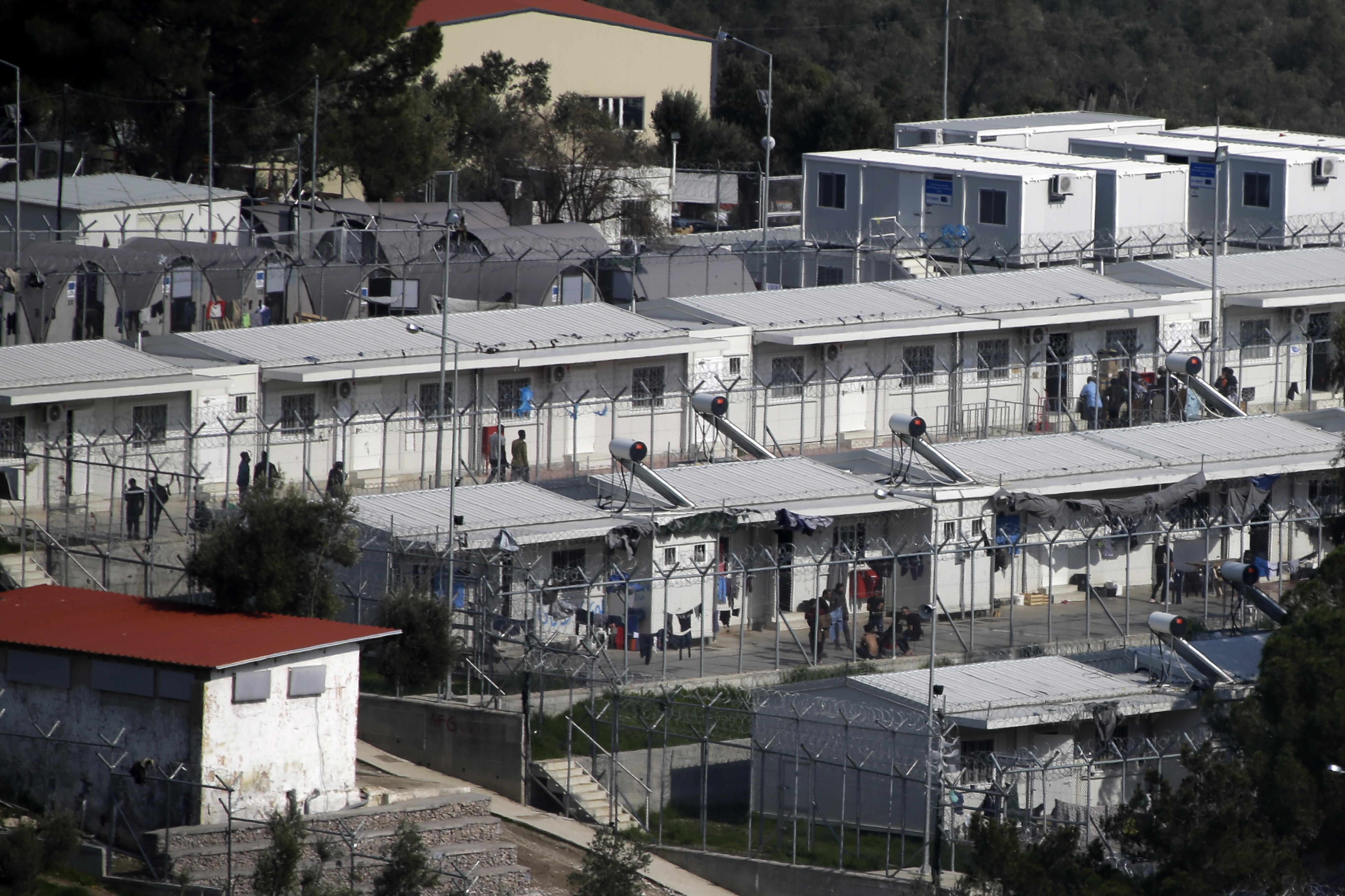 Greek island refugee camp too crowded to house newcomers
