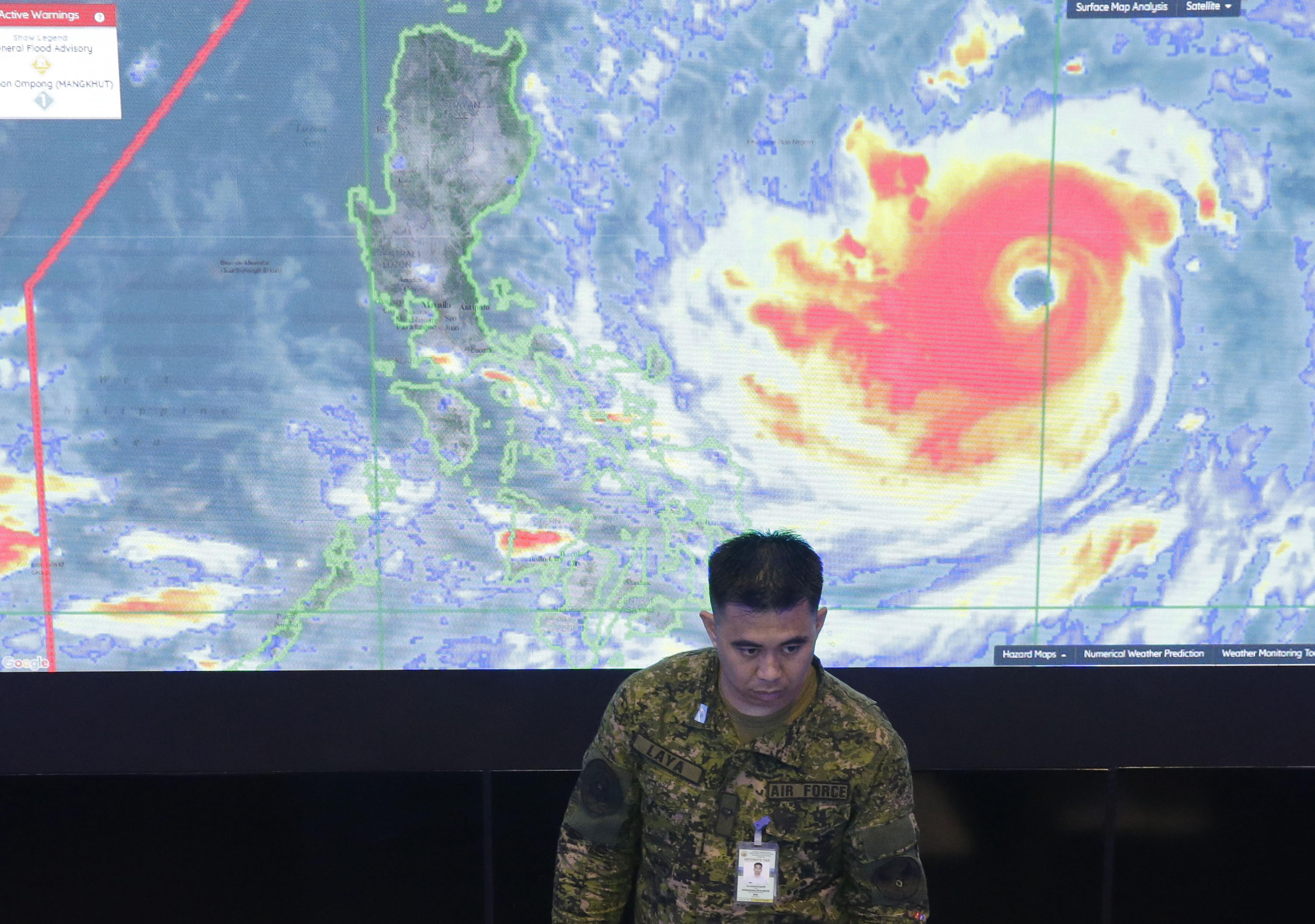 Evacuation underway as huge typhoon nears Philippines, China