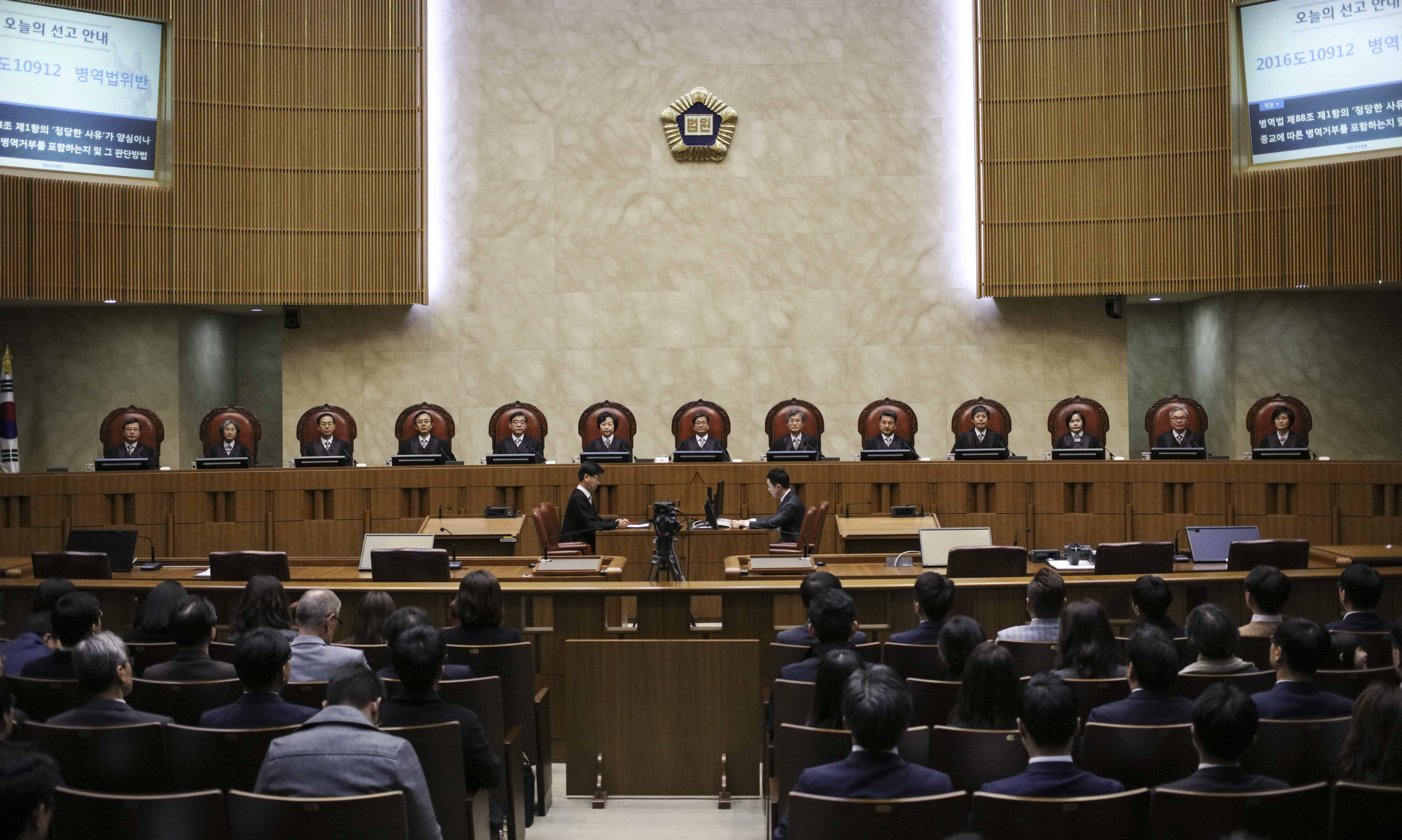 S. Korean court upholds conscientious objection to military