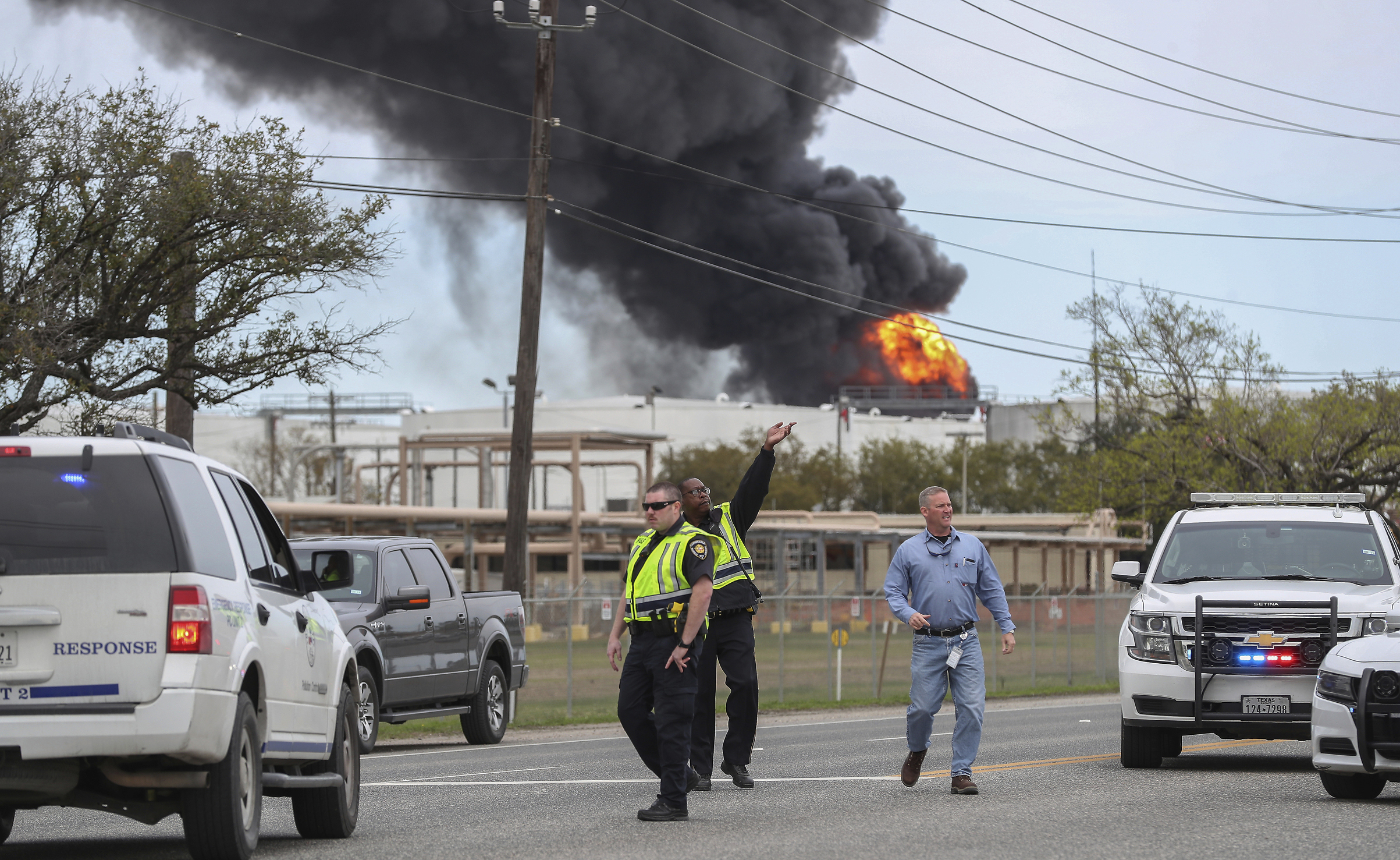 Fire breaks out at a Houston-area petrochemicals terminal