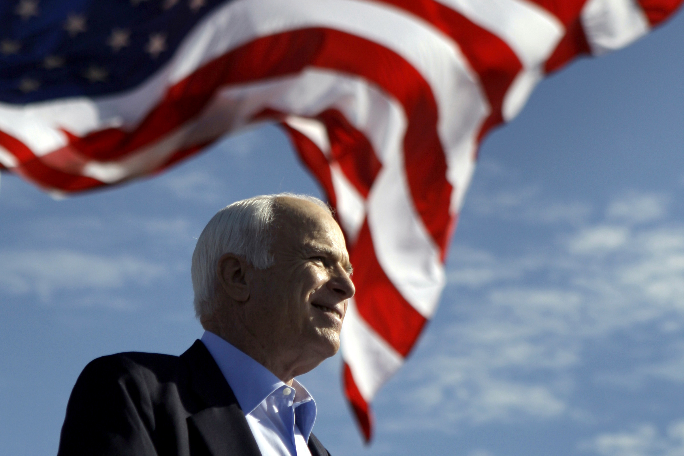 AP FACT CHECK: McCain can't respond but his record speaks