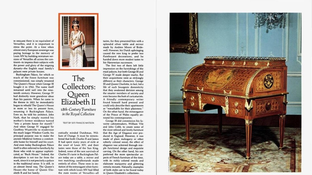 The Queen Has Some Really Great 18th-Century Furniture
