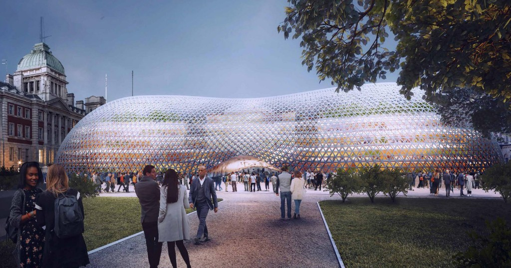 Norman Foster Unveils a Modern Crystal Palace as Temporary British Parliament - Architizer Journal