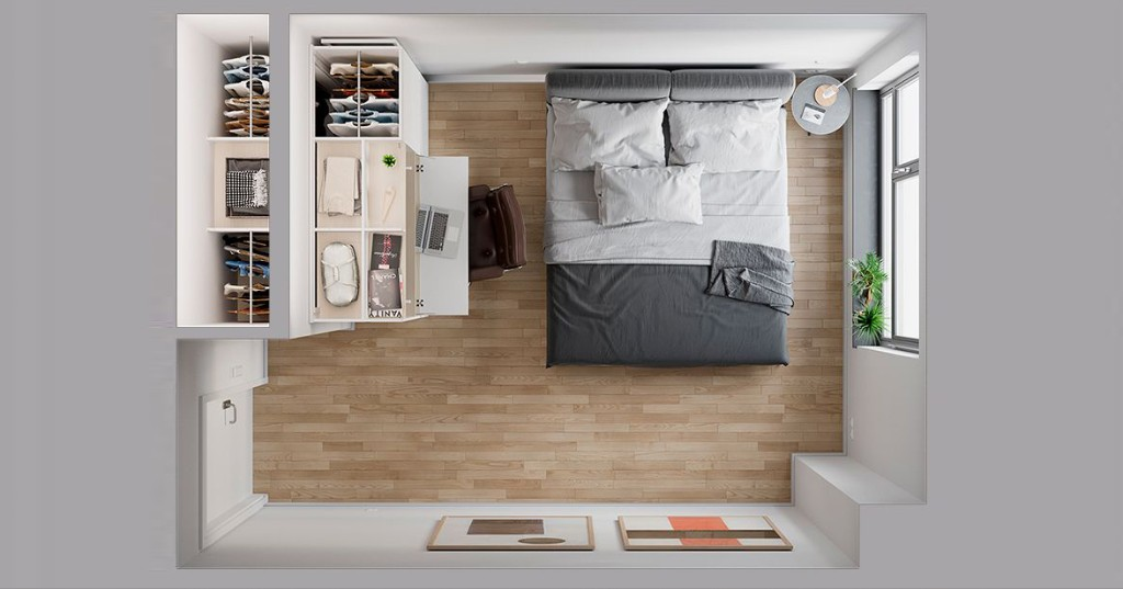 Pocket Closet: This Magically Transforming Storage Wall Is Perfect for Tiny Apartments - Architizer Journal