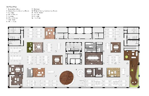 Architectural Drawings: 10 Office Plans Rethinking How We Work