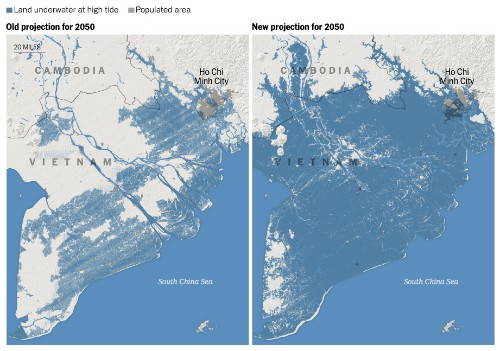 6 Maps Reveal the Cities That Could Soon Be Consumed by Rising Oceans
