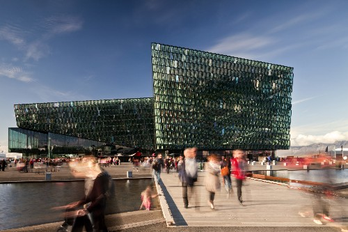 Architectural Details: The Crystalline Façades of Iceland's Harpa Concert Hall