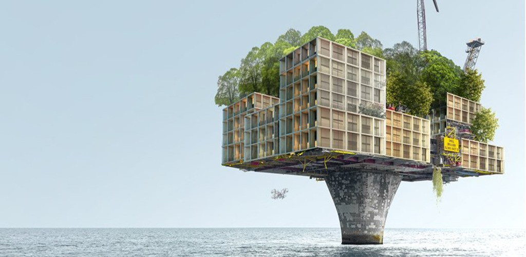Life After Oil: XTU Architects Envisions Abandoned Rigs as Futuristic, Green Housing - Architizer Journal