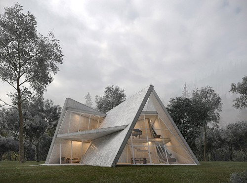 This Sculptural Concrete Villa Is a Stunning Ode to Deconstructivism