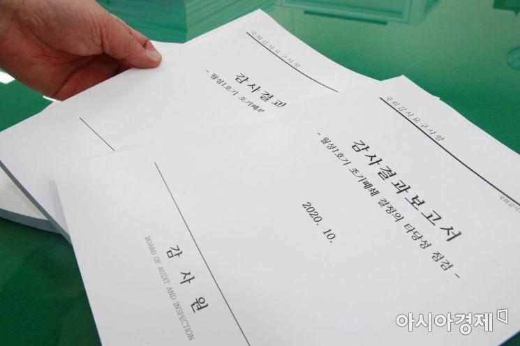 [포토] 감사원 월성 1호기 감사 결과 국회 제출