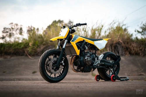 Flying start: An MT-07 supermoto from a first-time builder