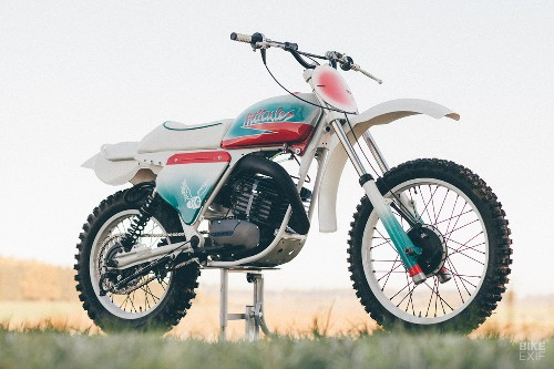 Day-Glo dirt machine: A Hercules GS250 with an 80s vibe