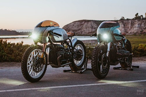 Boxer Twins: A pair of BMW R100 café racers from Upcycle