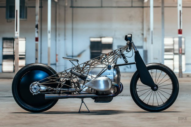 Birdcage: Revival Cycle's Titanium-Caged BMW Boxer