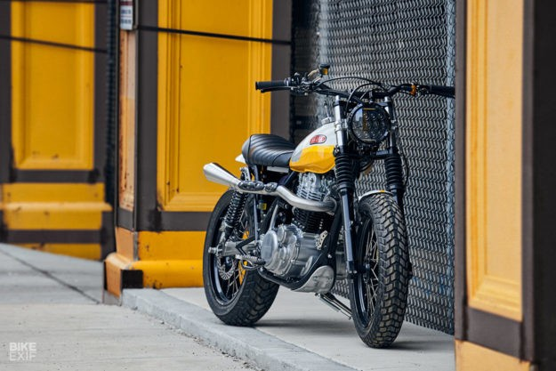 Ray of Sunshine: Daniel Peter's Yamaha SR500 Scrambler