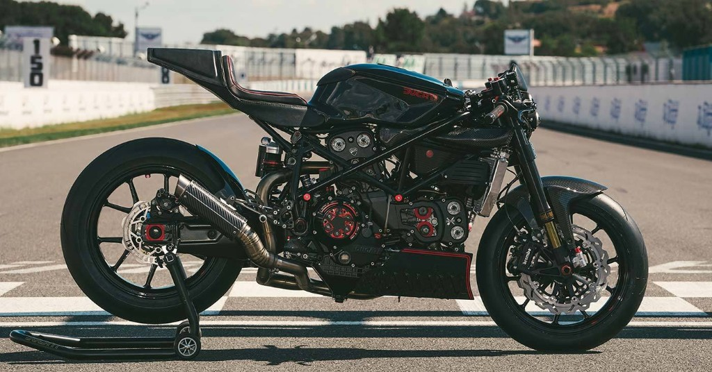 Dark art: A stripped-back Ducati 999 from Freeride