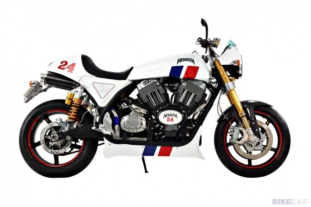The new Hesketh motorcycle
