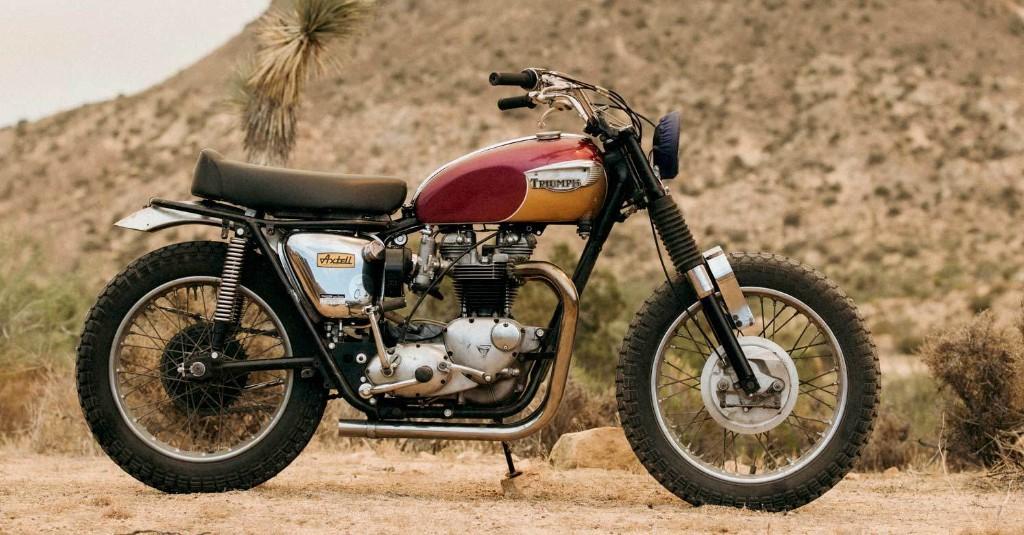 A Triumph TT special built for a top sound designer