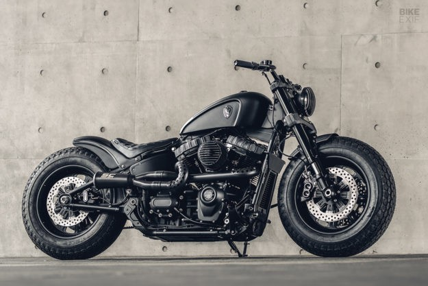 Mighty Guerrilla: A Harley Fat Bob from Rough Crafts