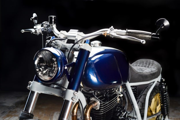 Rhapsody in Blue: Revival Cycles' Honda FT500 Ascot