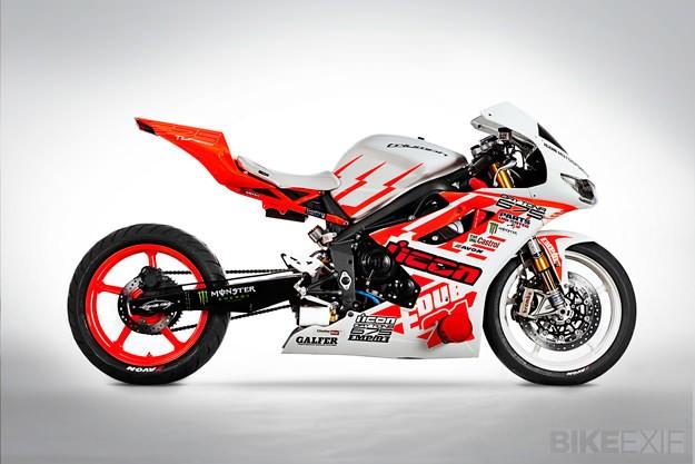 Icon x Triumph drift motorcycle