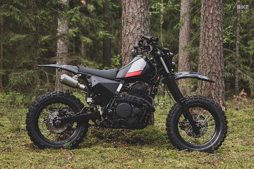 Black Magic: A stealthy Honda NX650 from the Baltics | Bike EXIF